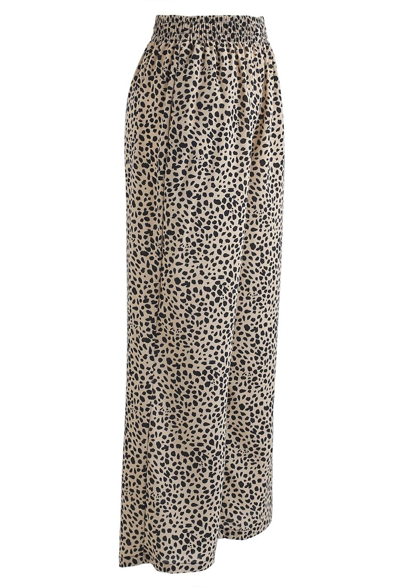 Lightsome Leopard Print Wide-Leg Pants