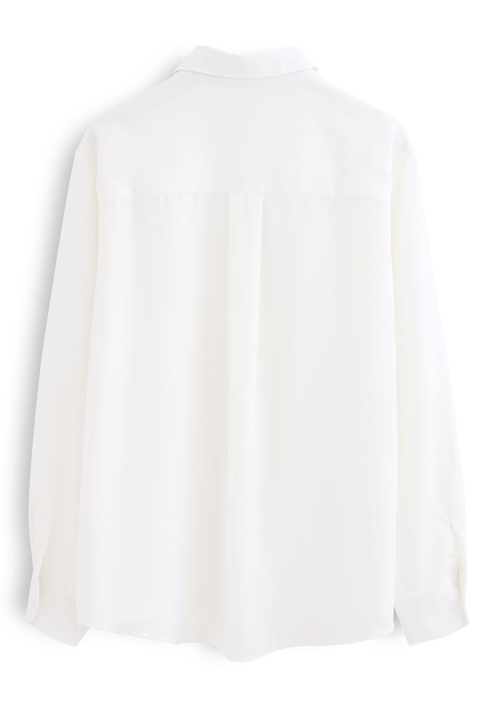 Basic Softness Hi-Lo Shirt in White