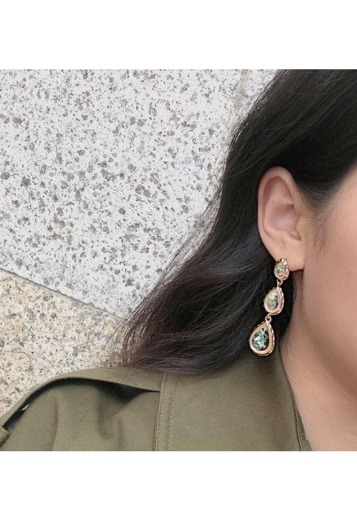 Colorful Crystal Drop Earrings