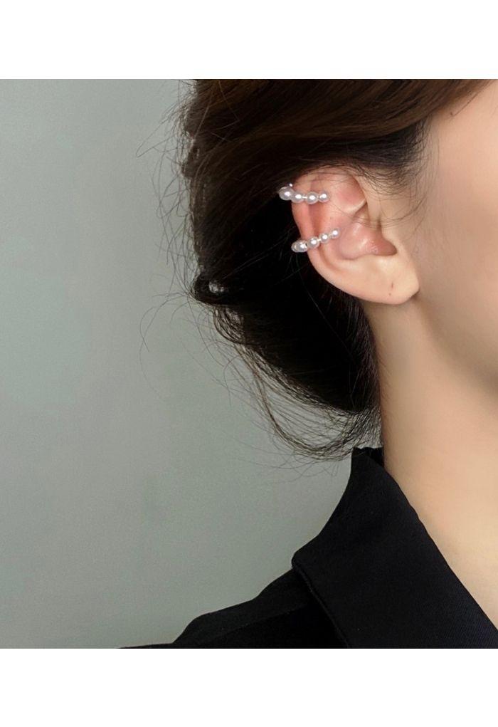 Non Pierced Pearl Ear Clip
