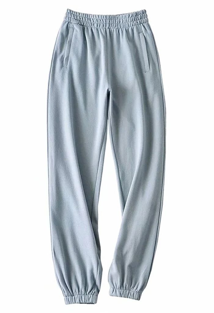 Zippered Side Pocket Joggers in Mint