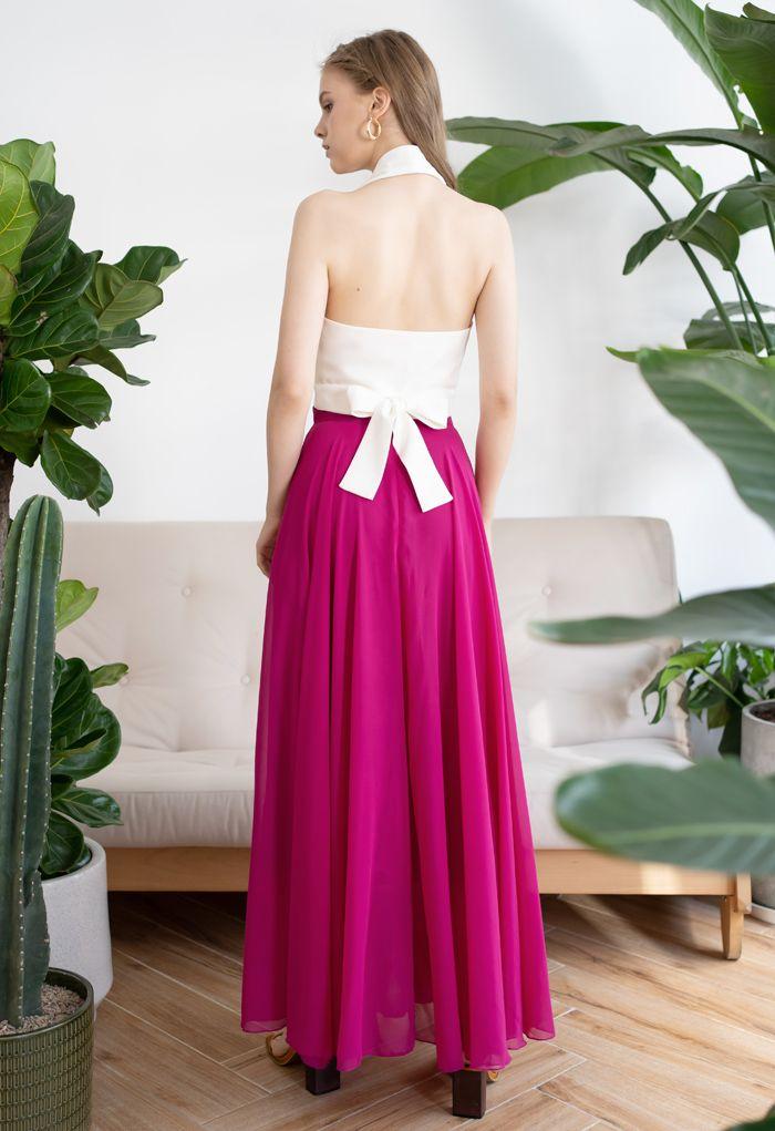 Timeless Favorite Chiffon Maxi Skirt in Magenta