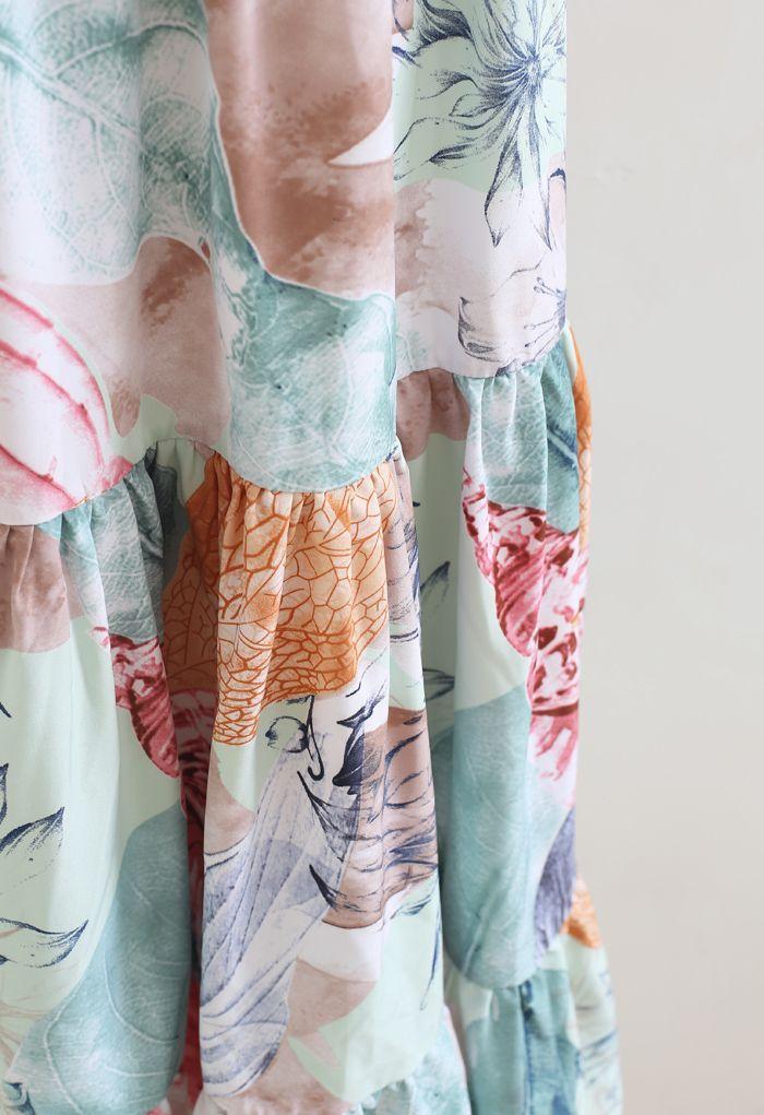 Robe longue enveloppée à volants Summer Adventure