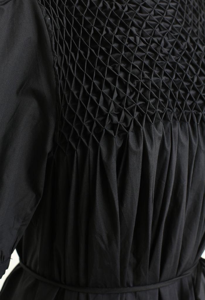 Robe Dolly Diamond Honeycomb en Noir