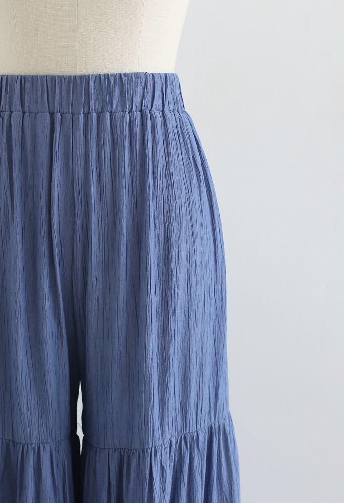 Pantalon large Sunny Days en bleu marine