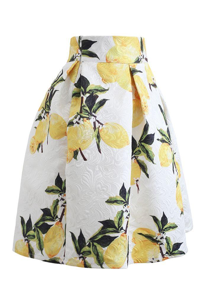 Jupe plissée en jacquard Lemon Tree
