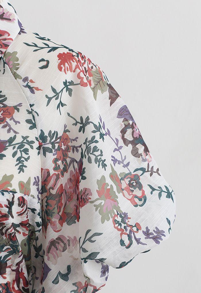 Ensemble chemise et short à imprimé floral Groovy