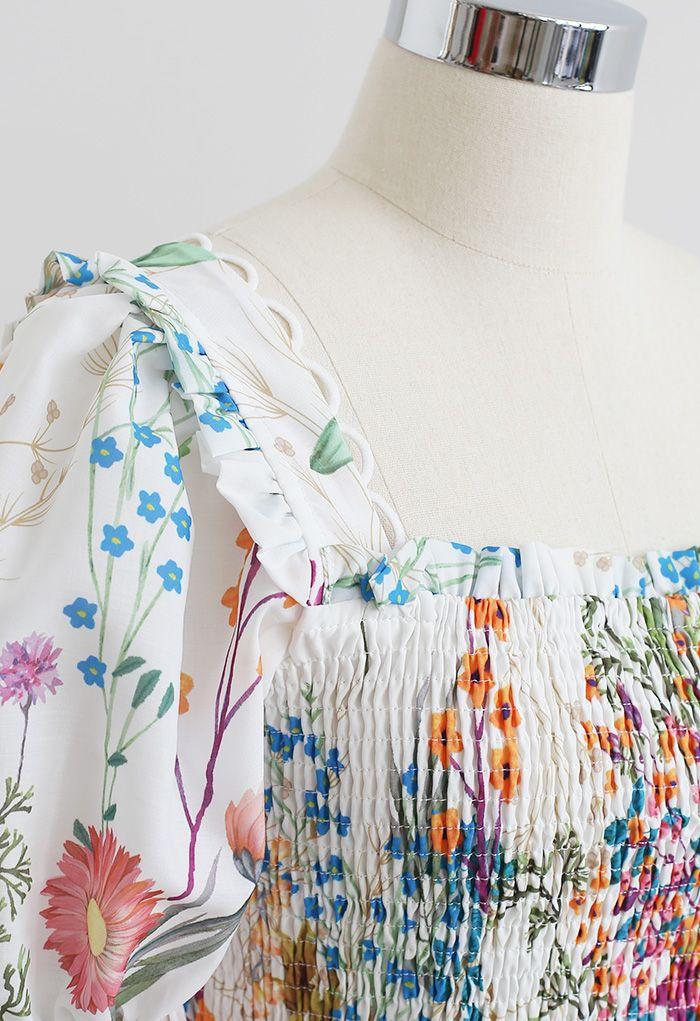 Ensemble haut imprimé Flower Land et jupe longue boutonnée Exuberant