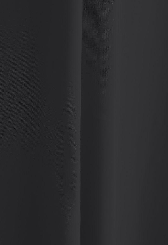 Robe longue sans manches à bretelles étroites en noir