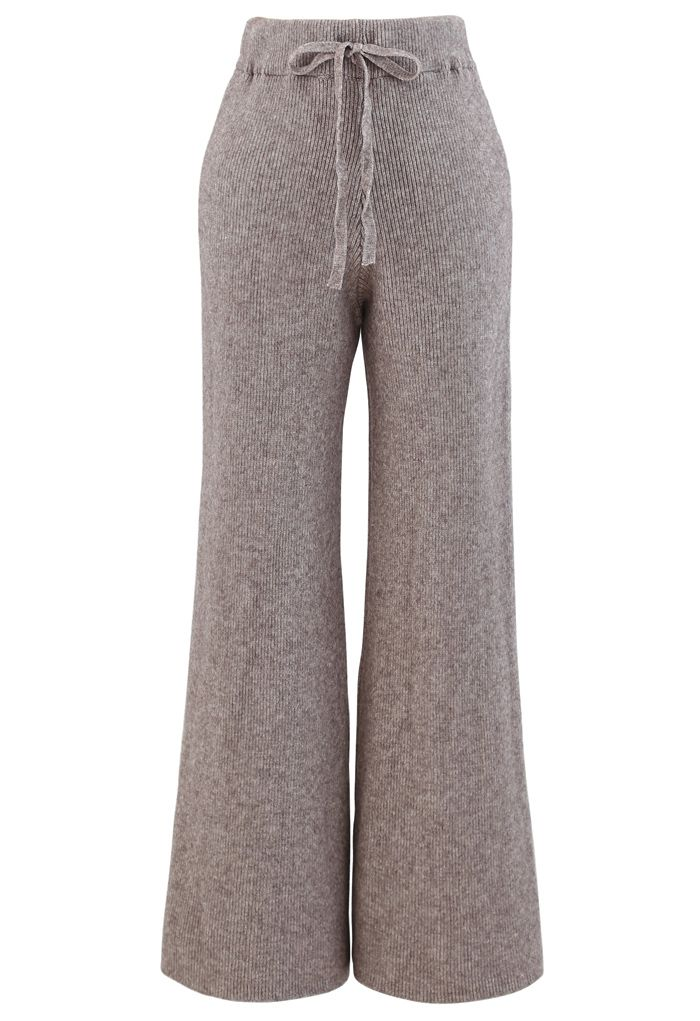3 Packs Soft Touch Knit Top and Pants Set in Taupe