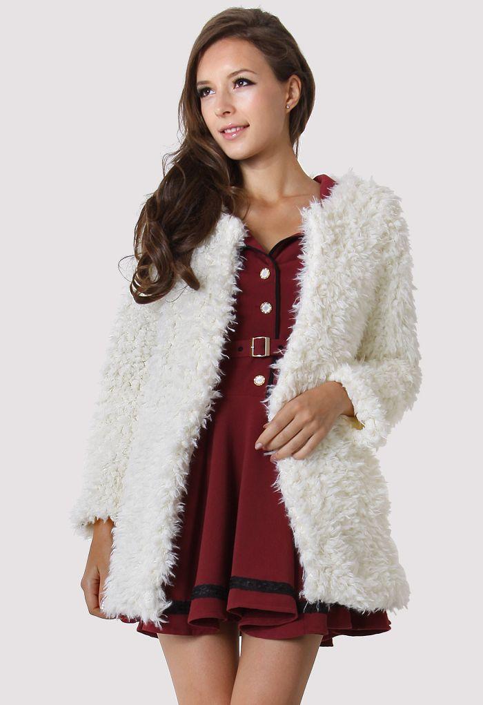 Manteau avec Fausse Fourrure