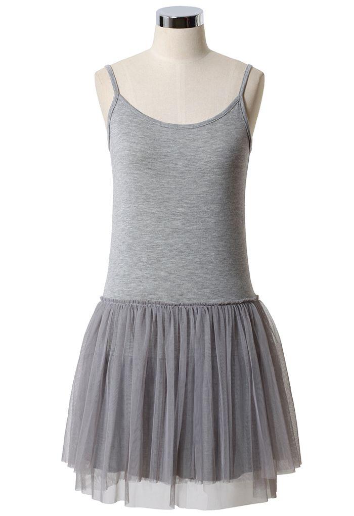 Ballet Robe en Tulle Gris