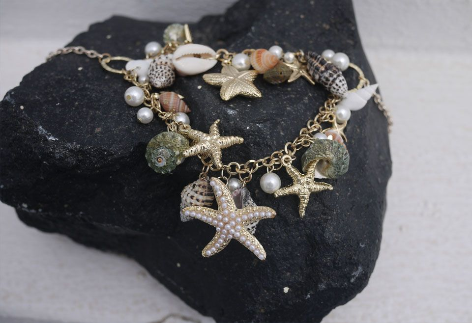 Conch Starfish Pearl Necklace