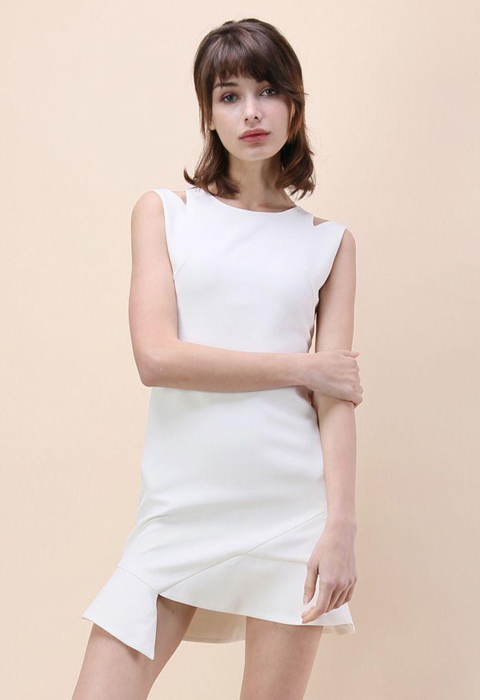 L'épitomé de la Grâce Robe sans Manches en Blanc