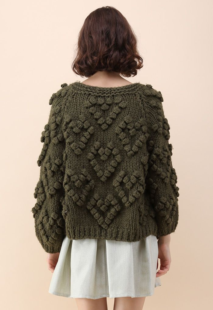 Tricoter Votre Amour Cardigan en Vert Armée
