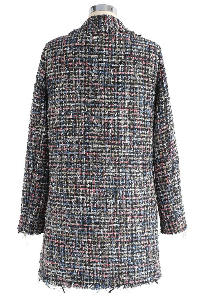 Attraction scintillante Manteau à double boutonnage en laine rustique