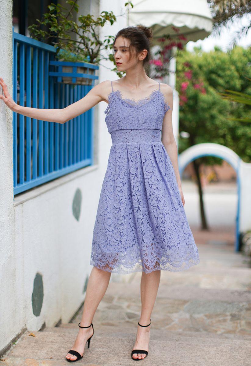 Spirit of Romance - Robe camisole en dentelle lavande