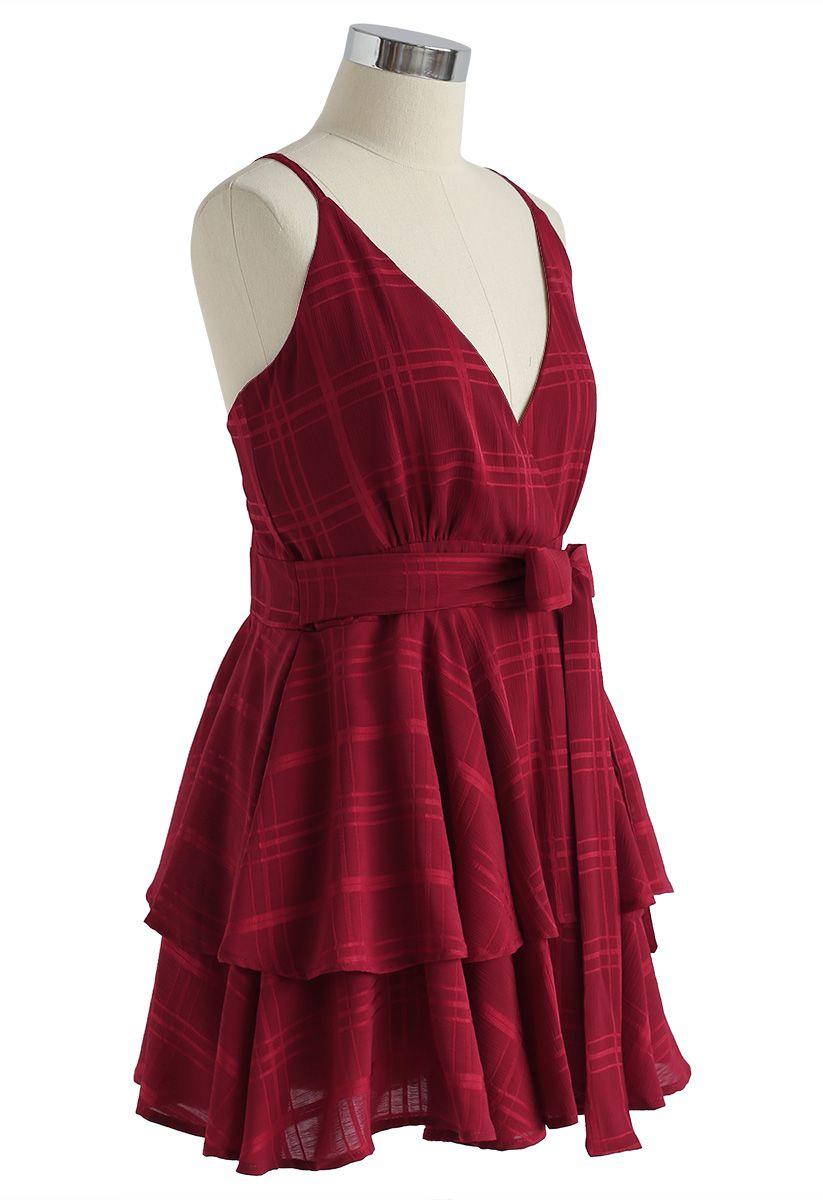 Dare To Dream - Mini robe camisole avec dos croisé - Rouge