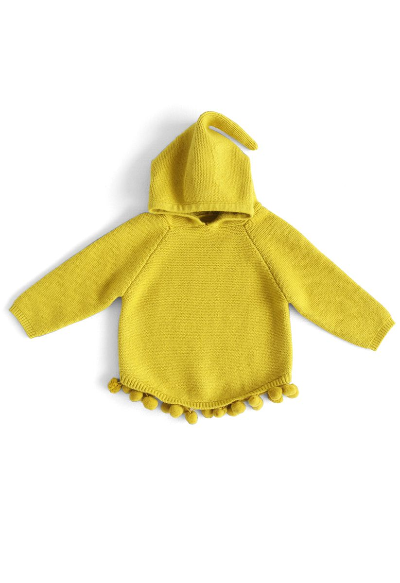 Pull à capuche rebondissant amusant à la moutarde pour les enfants