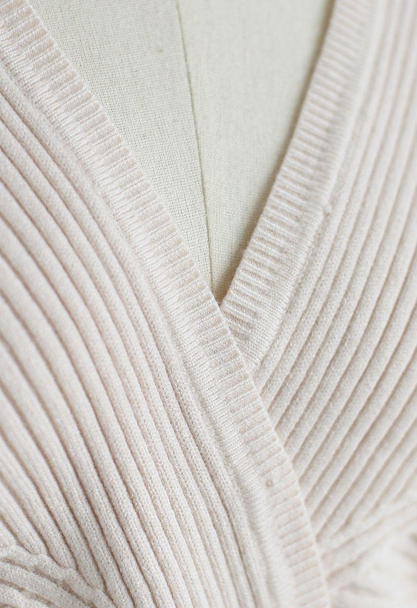 Haut en tricot True Colors en ivoire