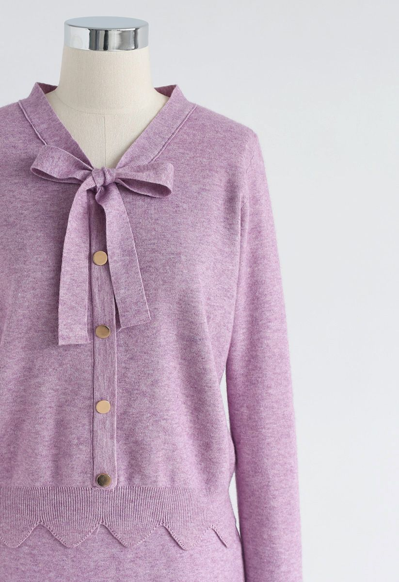 Passing Dreams - Ensemble en jersey et jupe en lilas