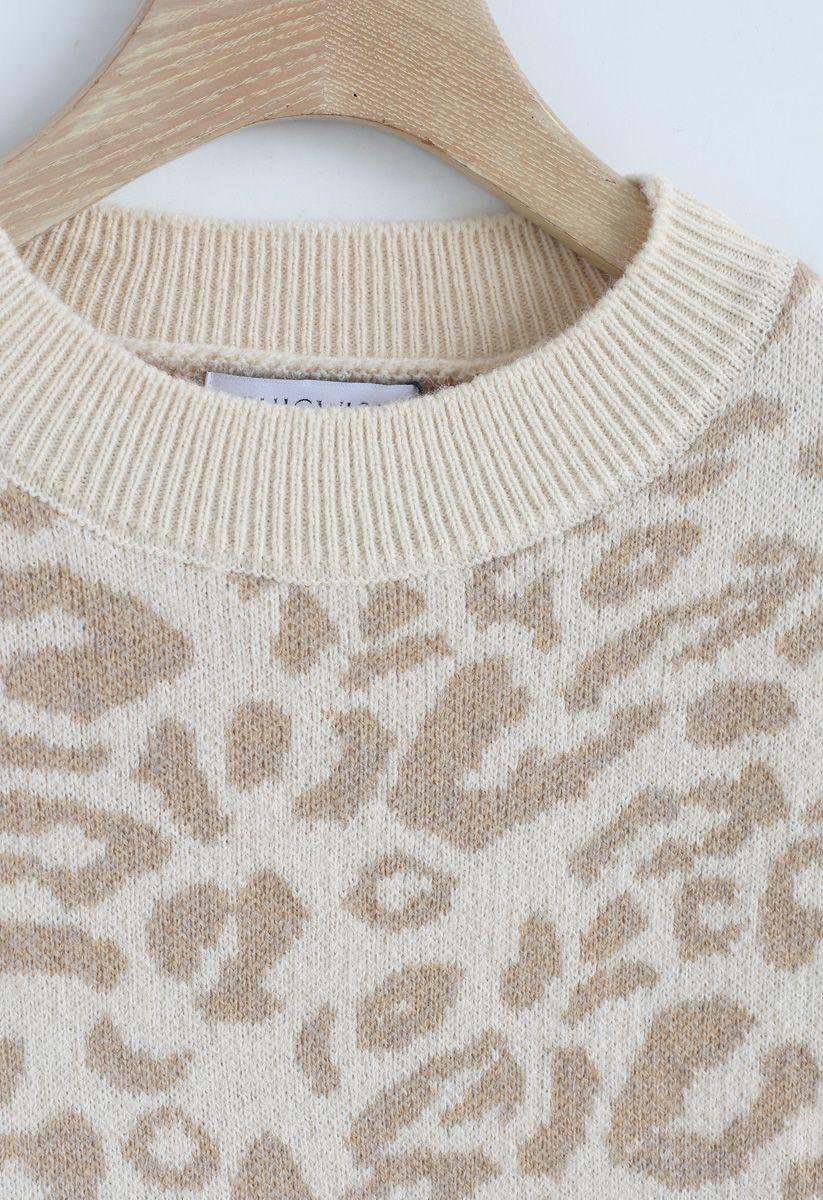 C'est le pull oversize Leopard de la bonne vie