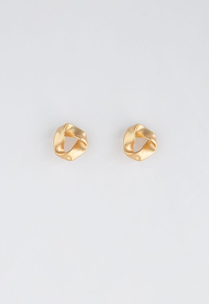 Boucles d'oreilles dorées Twist