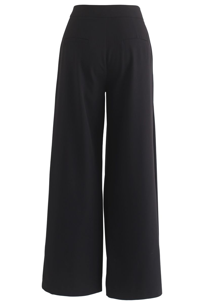 Mood Swings Wide-Leg Pants in Black