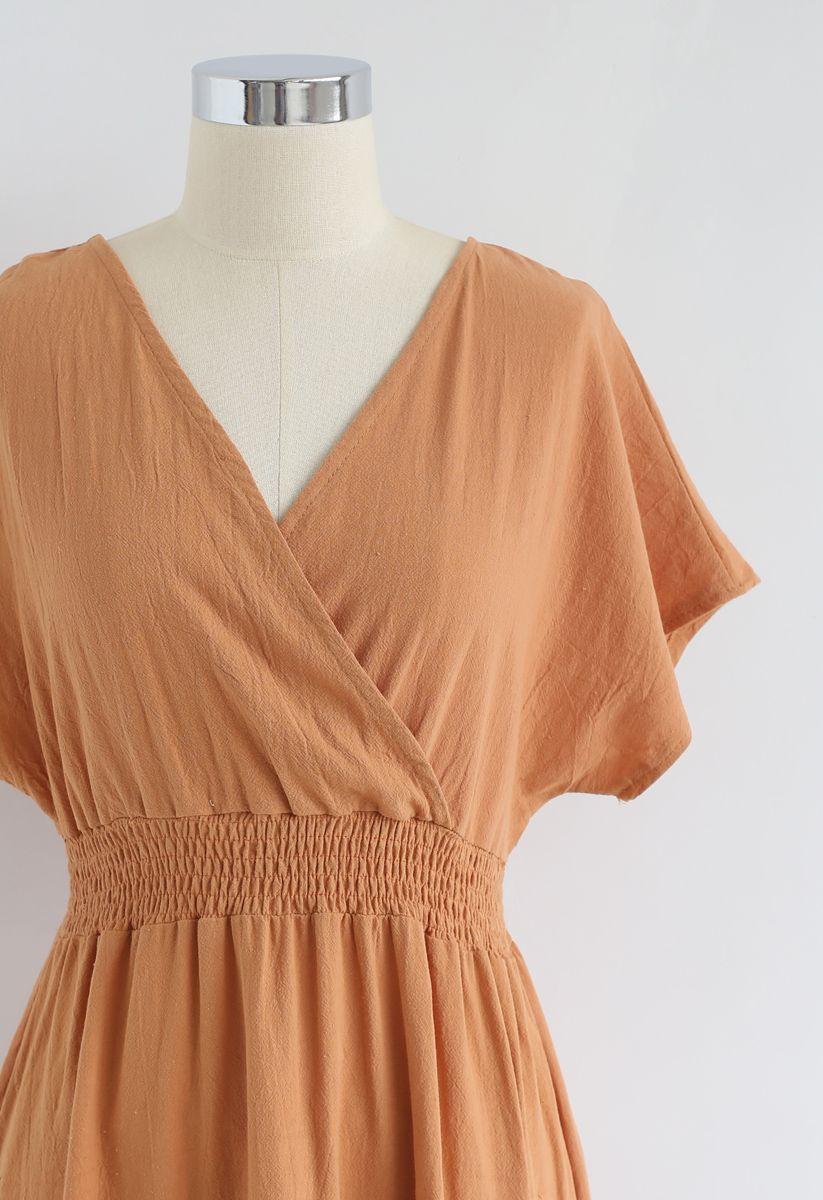My Only Wish Boho Robe cache-cœur en orange