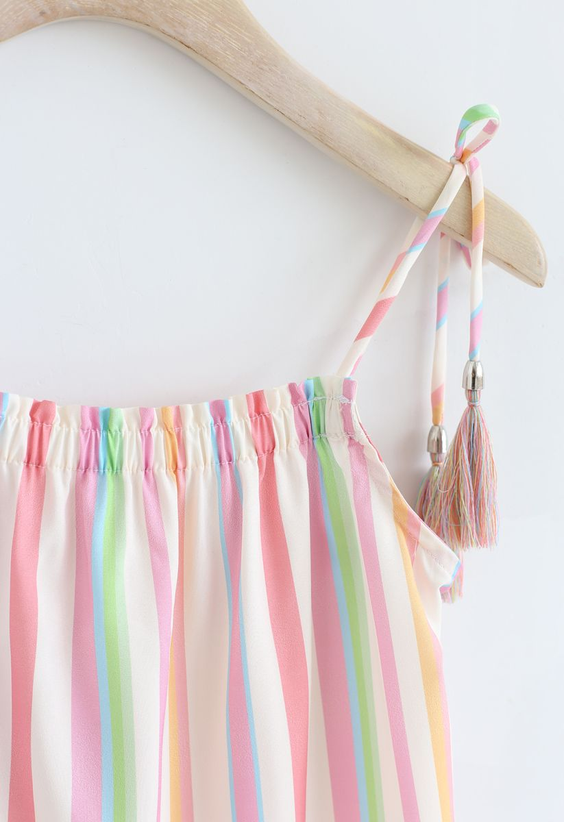 Rainbow Candies Stripes Maxi Dress pour les enfants