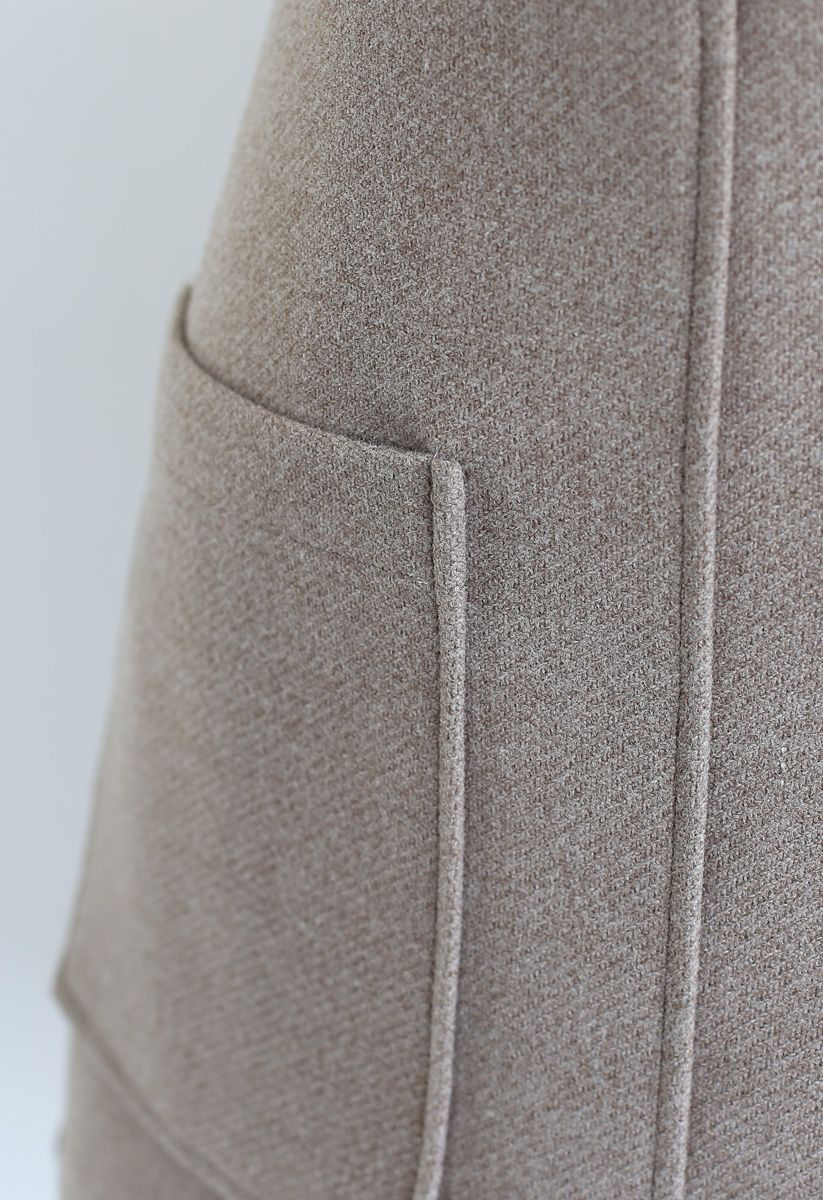 Pocket of Charm Mini Skirt in Taupe