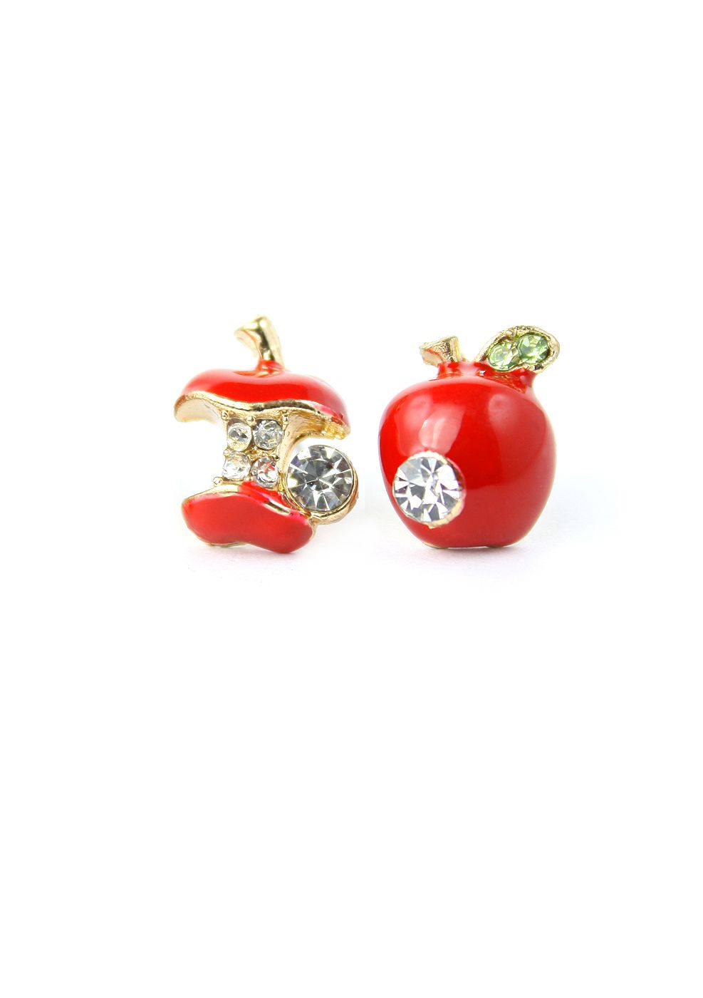 Apple Stone Stud Earrings