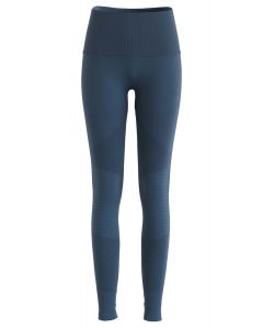 High-Rise Fitness Leggings in Dusty Blue