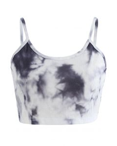 Tie-Dye Crop Tank Top in Ink