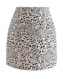 Minijupe à imprimé léopard Bud