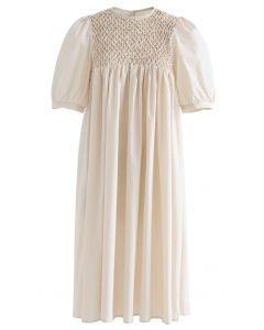 Robe Dolly Diamond Honeycomb en Crème