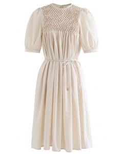 Diamond Honeycomb Dolly Dress in Cream