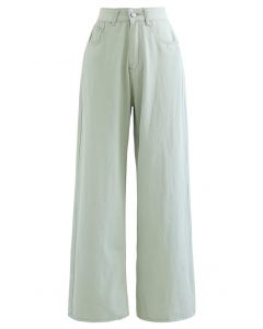 Leisure Straight Leg Jeans in Pea Green