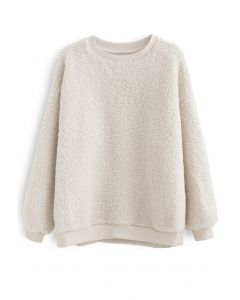 Sherpa Oversized Pullover in Cream