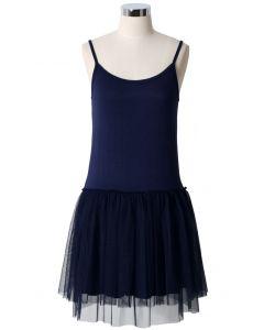 Ballet Robe en Tulle Bleu Marine