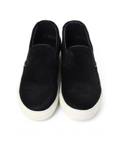 Chaussures de tennis tricot poil de noir