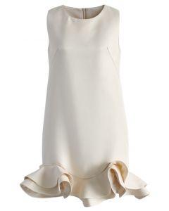 Elegance de la Soie Robe avec L'ourlet Péplum