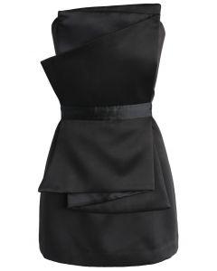 Mon joyeux secret Robe sans Bretelles en noir