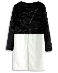 Allure Contraire Manteau en Faux Cuir Noir