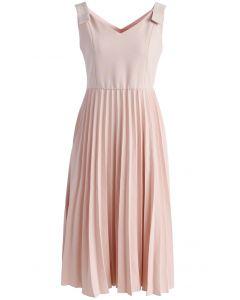 Felicity Comes Around Robe Cami plissée rose