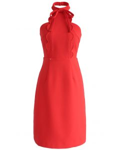 Dernier engouement robe bustier en rouge