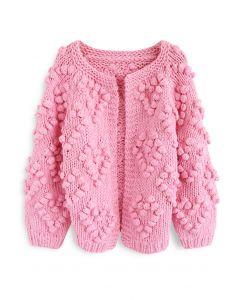 Tricoter Votre Amour Cardigan en Rose Foncé