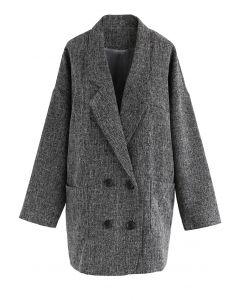 Dandy Forever manteau à double boutonnage dans la fumée