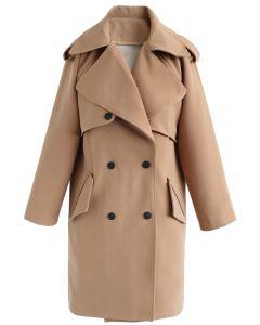 Trench-coat à double boutonnage Trendy Sensation - Tan