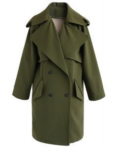 Trench-coat à double boutonnage Trendy Sensation en vert
